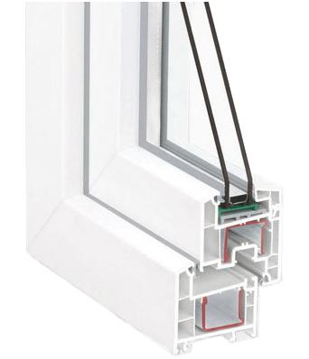 окно пластиковое в разрезе фото