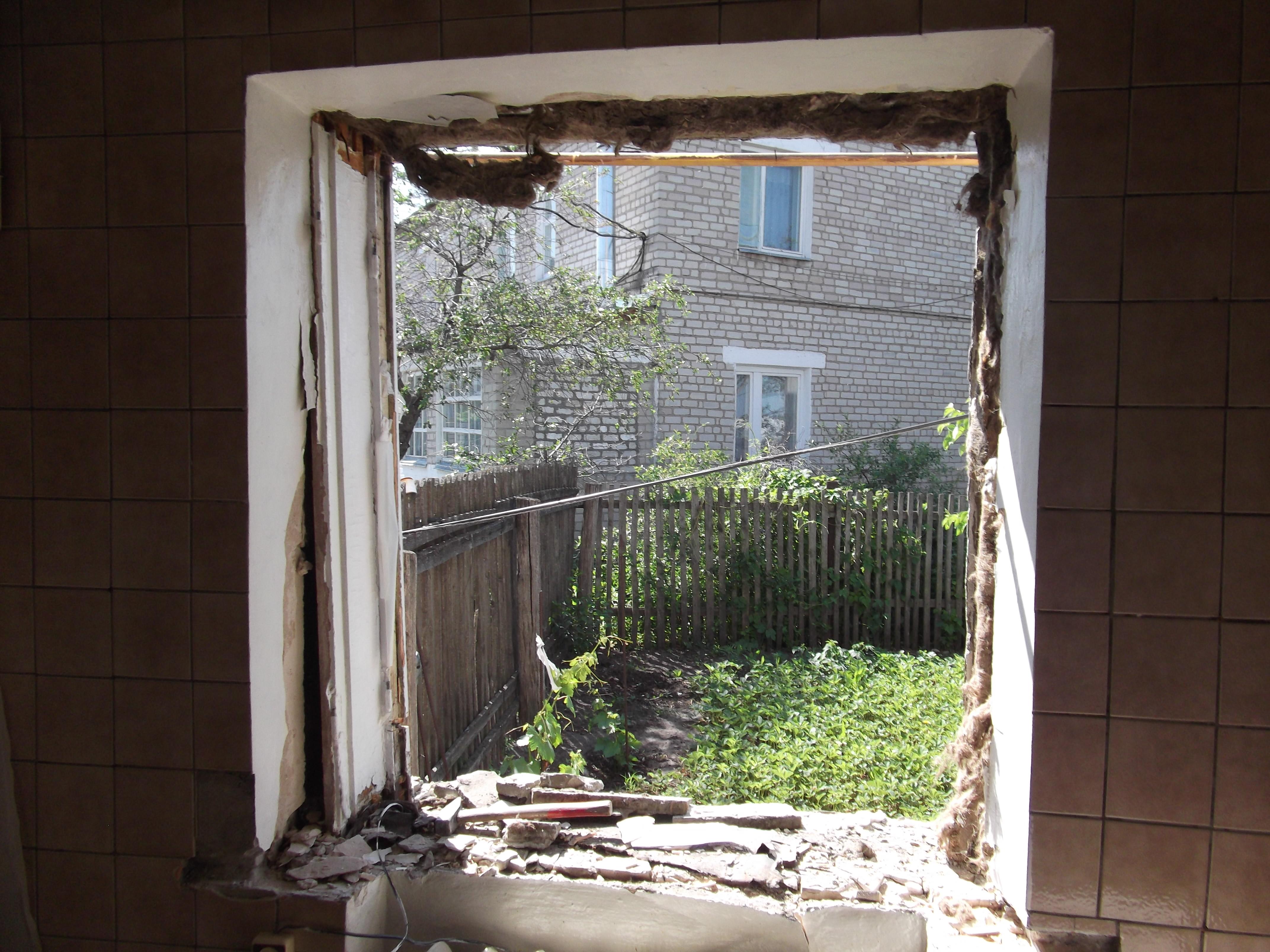 Демонтировать пластиковое окно