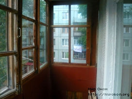 До установки балкона