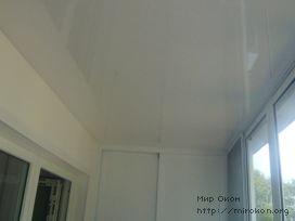 Потолок балкона после установки