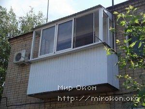 Новый балкон, вид с улицы
