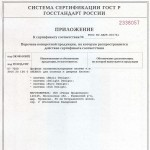 Приложение N1 к сертификату соответствия