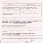 Сертификат пожарной безопасности на профили поливинилхлоридные белые оконные и дверные систем «REHAU»