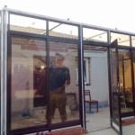Монтаж веранды с алюминиевыми раздвижными створками в Сызрани