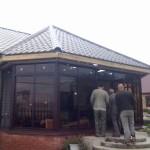 Монтаж веранды с раздвижными створками в Сызрани