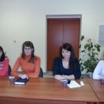 "Менеджеры компании ""Мир Окон""на семинаре. Слева направо: Татьяна, Вера, Юлия, Юлия"