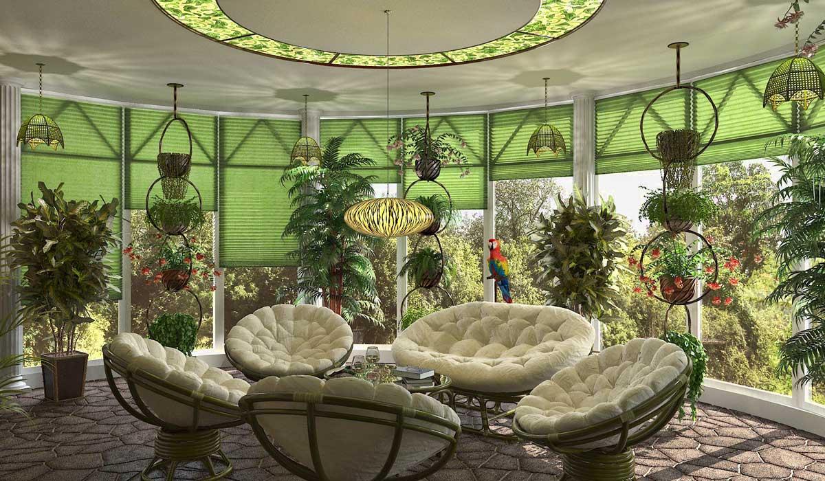 Дизайн зимних садов в частном доме