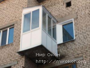Балкон с выносом после остекления