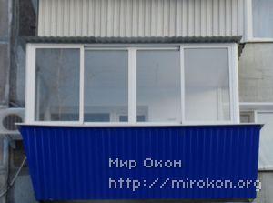 Остекление балкона со смещением и выносом