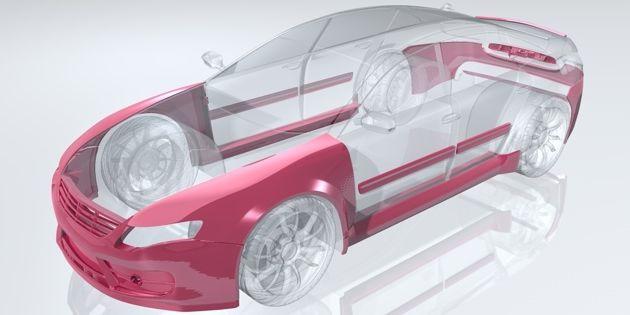 Год 1988 – для Audi 2 Рехау начинает массово выпускать пластиковые крылья.