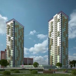 Знаковый высотный жилой комплекс Красноярска
