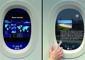 Французы превратили иллюминаторы самолетов в планшеты